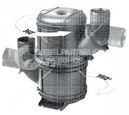 Waterlock / Geluiddemper type NLPH, horizontaal, kunststof,