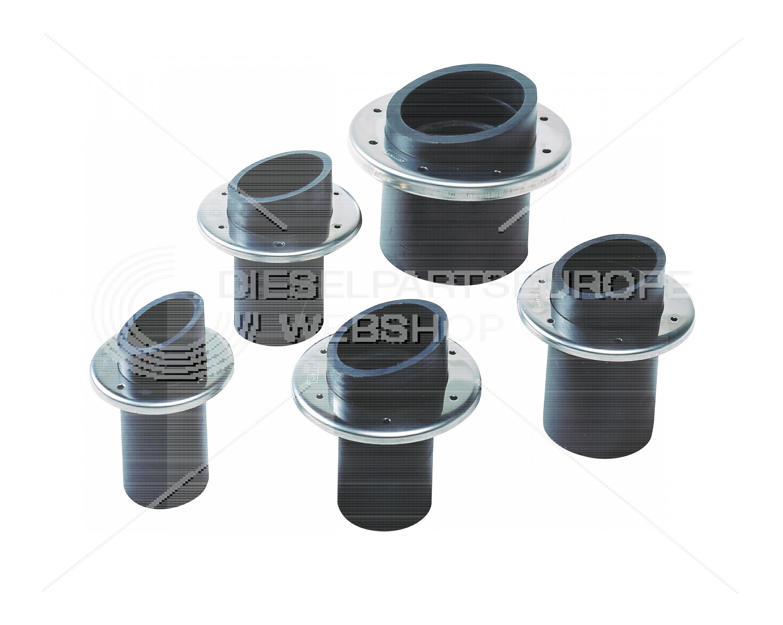 Uitlaat-spiegeldoorvoer, rubber, 45 mm