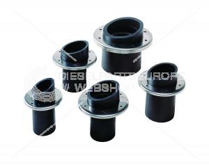 Uitlaat-spiegeldoorvoer, rubber, 50 mm